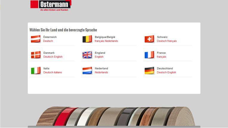 Der B2B-Online-Shop der Rudolf Ostermann GmBh steht in ZWÖFLLändern mit unterschiedlichen Landessprachen und Sortimenten zur Verfügung