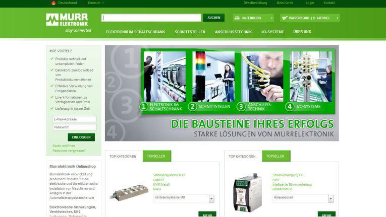 Murrelektronik hat einen internationalen B2B-Onlineshop gelauncht, der komplexe Produkte im Bereich Automatisierung optimal abbildet.