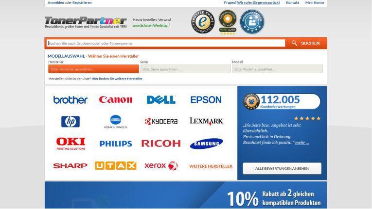 """TonerPartner.de ist bewirbt sich mit einem deutschsprachigen Onlineshop für Tonerkartuschen und Druckerpatrone um den Best in eCommerce-Award in der Kategorie """"Bester ITK-Webshop""""."""