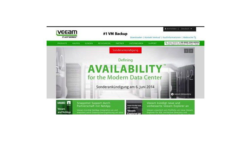 Veeam Availability Suite in der Version 8: Hersteller verspricht Rund-um-die-Uhr-Verfügbarkeit.