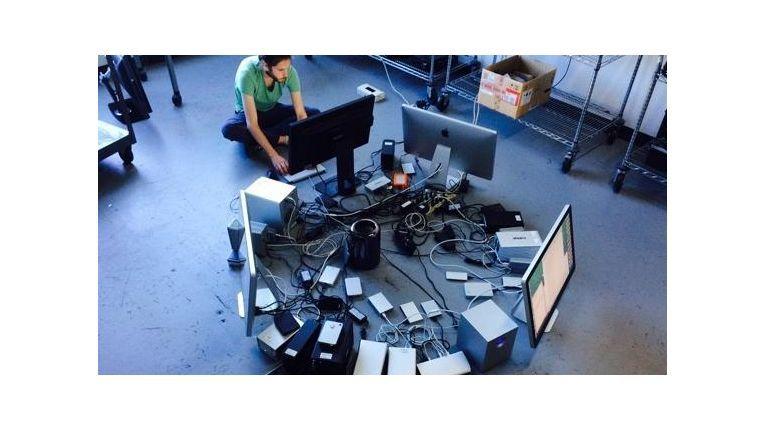 Geht doch: Die Kollegen der Macworld betreiben 36 Geräte an einem Mac Pro.