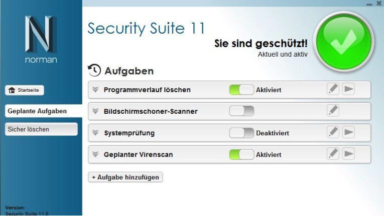 Norman Security Suite 11: Verschiedene Lizenzen und Funktionsumfänge.