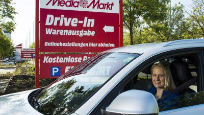 Pilotmarkt in Ingolstadt: Media Markt und der Drive-In - Foto: Media-Saturn-Holding GmbH (MSH)