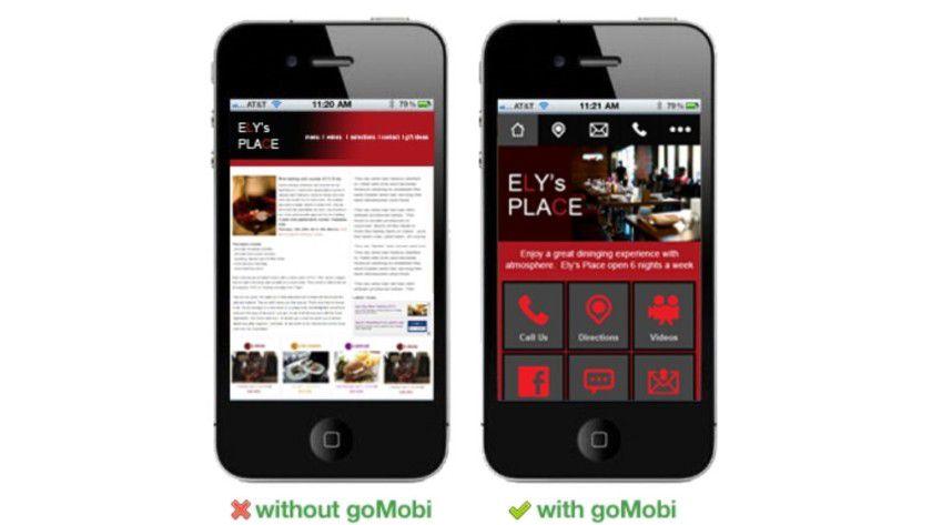 Mobile Webseiten schnell und einfach erstellt mit goMobi by Verio. (Quelle: dotMobi, 3. Juli 2013)