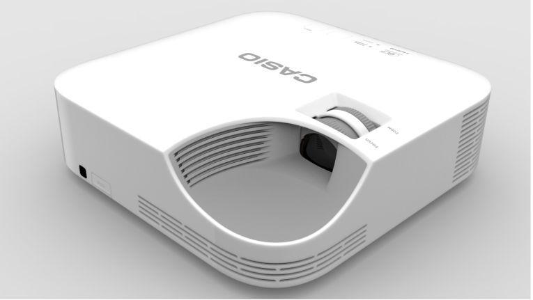 Der Projektor XJ-V1 von Casio arbeitet auf Basis eines DLP-Chips und mit einer Laser-LED-Lichtquelle.