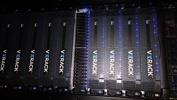 VxRack von VCE ist eine hyperkonvergente Plattform, die klein anfängt und bis zu Tausenden Knoten skalieren kann.