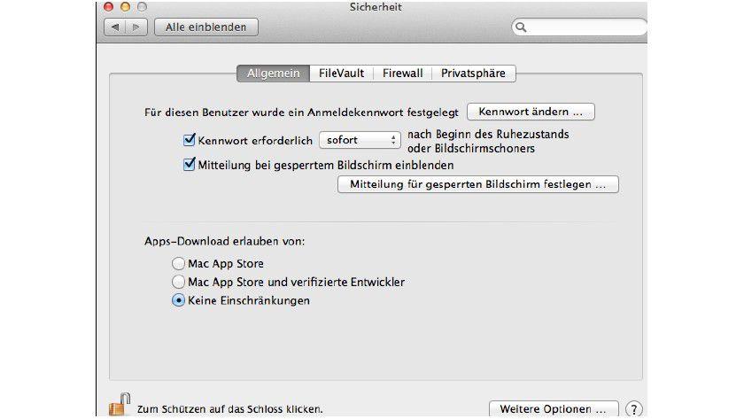 Mit dem Torwächter können Nutzer die Sicherheitsstufe für Download und Installation von Apps selbst festlegen.