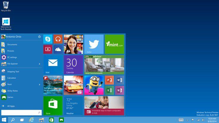 Windows 10 erhält wieder ein klassisches Startmenü.