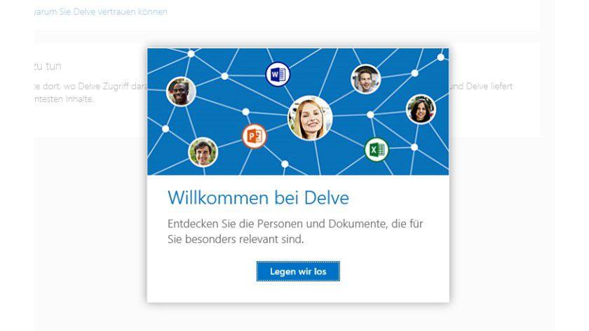 Delve können Sie als SharePoint-Website testen.