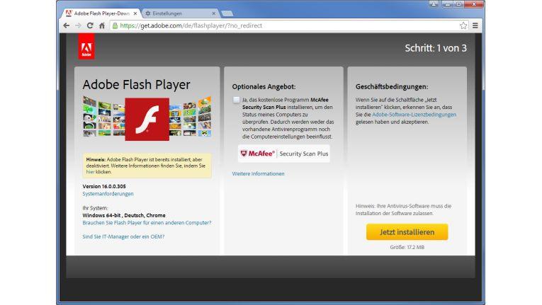 Sicherheitsrisiko: Der Adobe Flash Player steht im Fokus von Hackern und Cyber-Kriminellen und wird deshalb häufig durch Sicherheitslecks für Malware-Attacken missbraucht.