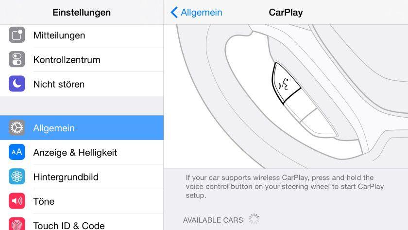 Apple CarPlay: Mit iOS 8.3 lässt sich das iPhone drahtlos mit CarPlay verbinden.