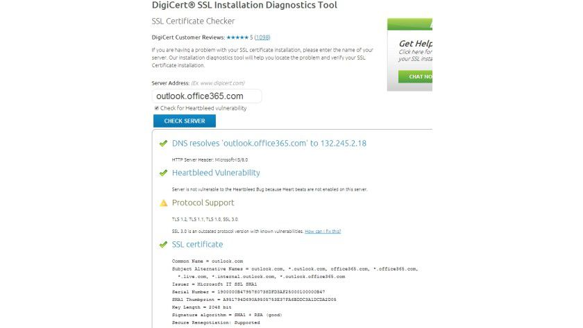 DigiCert SSL Installation Diagnostics Tool - Sicherheitstests ...