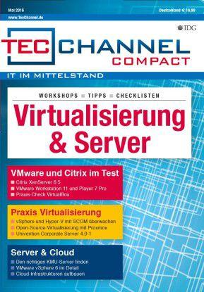 """160 Seiten Praxis und Tests finden Sie im TecChannel Compact """"Virtualisierung""""."""