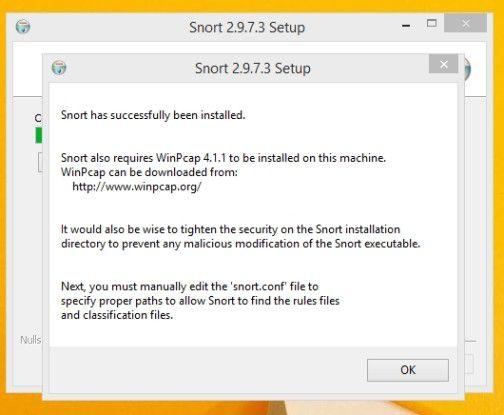 Snort braucht WinPcap, um den Datenverkehr im Netzwerk mitzuschneiden.
