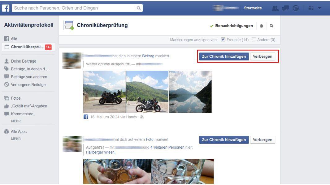 Facebook Timeline Einstellen