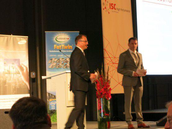 Martin (rechta) und Thomas (links) Meuer eröffneten die ISC 2015 in Frankfurt.