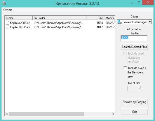 Auch vermeintlich sicher gelöschte Dateien lassen sich mit kostenlosen Tools schnell und einfach wiederherstellen.