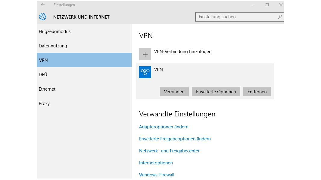 Windows 10 - VPN einrichten