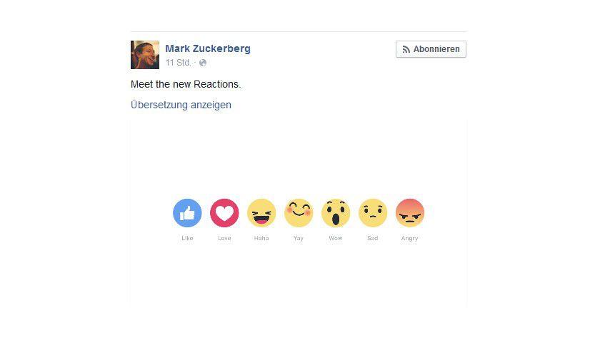 Die neuen Facebook Emojis