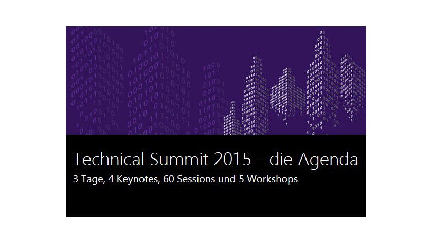 Technical Summit 2015: Die Microsoft-Fachkonferenz in Darmstadt informiert über aktuelle und zukünftige Produkte, Services und Technologien.