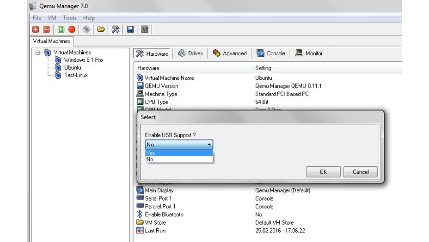 QEMU-Manager für Windows: Mit dem QEMU-Manager auf USB-Host
