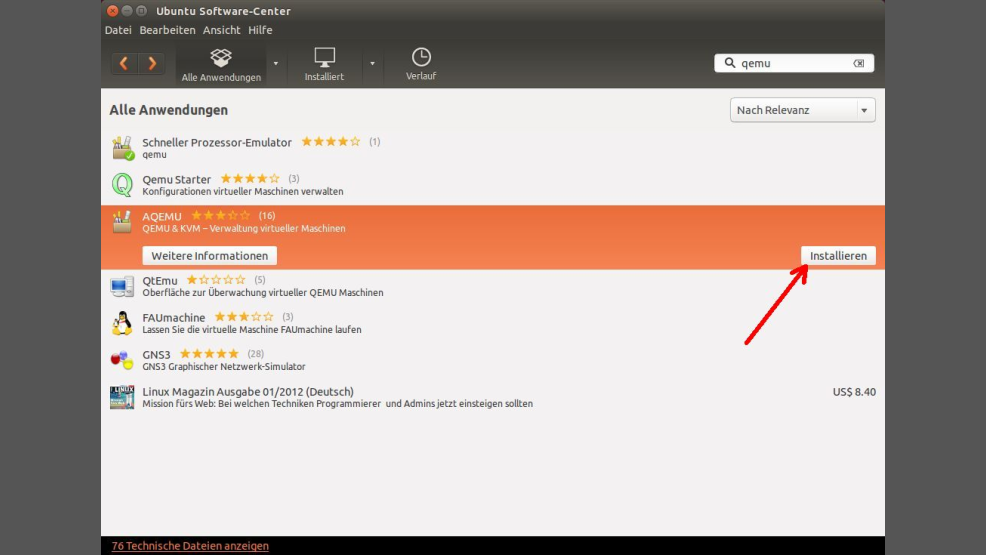QEMU für Linux: Grafische Benutzeroberflächen von QEMU unter