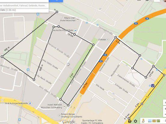 Google Maps misst Entfernungen nun genauer.