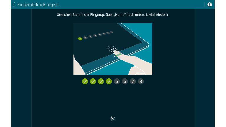 Der Finger-Scanner lääst sich austricksen - statt achtmal einen Finger können Sie auch einmal acht Finger scannen