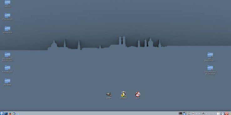 Screenshot des LiMux-Clients, wie Mitarbeiter der Stadtverwaltung ihn täglich sehen.