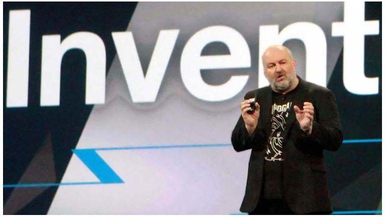 """Amazon-CTO Werner Vogels präsentierte """"Lambda"""", eine Runtime-Plattform für Javascript-Anwendungen."""