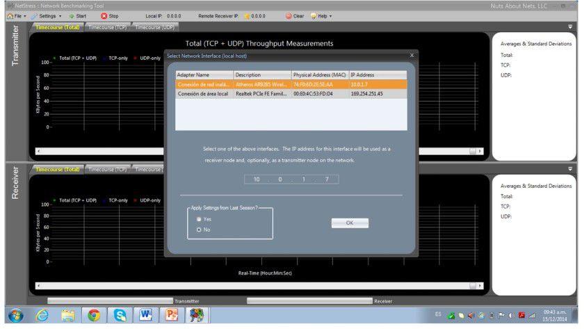 Server und Client einrichten: Um eine WLAN-Messung durchzuführen, muss man NetStress auf zwei verschiedenen Rechnern installieren. Der eine PC dient dabei als Server, der andere als Client.
