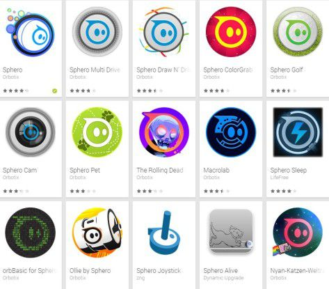 Rund um die Roboterkugel Sphero entstand ein Ökosystem mit mehr als 30 Apps.