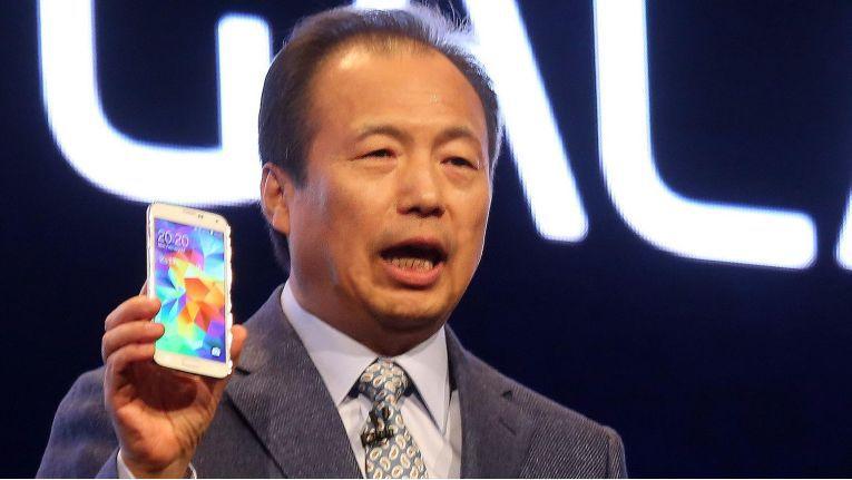 J.K. Shin bei der Vorstellung des Galaxy S5
