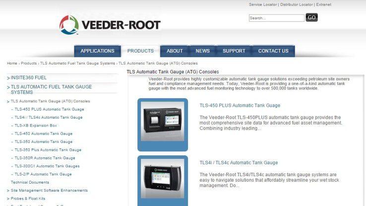 Das US-Unternehmen Veeder-Root bietet für Tankstellen verschiedene ATGs samt Steuerkonsolen an.