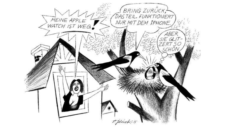 """Cartoon klein 12/2015 678 - """"Apple Watch"""""""