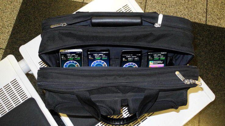Wenn einer eine Reise tut...: IDG-Autor Harald Karcher fuhr im März mit vier Smartphones die LTE-Teststrecke S8 vom Flughafen München bis zum Ammersee ab.