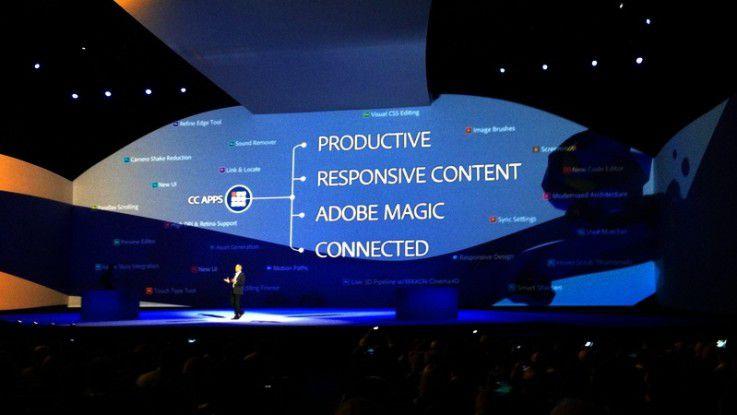 Seit 2011 sattelte Adobe auf das Software-as-a-Service Modell Creative Cloud um. So kann der Hersteller schneller auf Trends wie hier 2013 auf die aufstrebenden Social Networks reagieren.