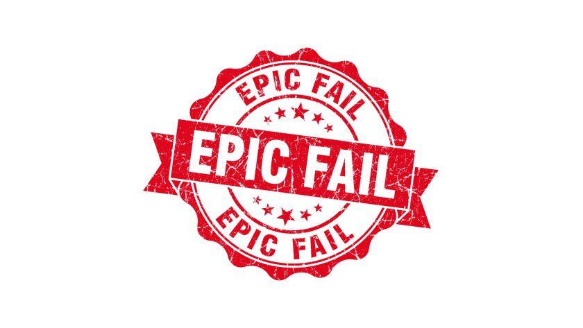 """Wir zeigen Ihnen zehn Unternehmen, die sich in punkto Firmenlogo das Prädikat """"Epic Fail"""" redlich verdient haben."""