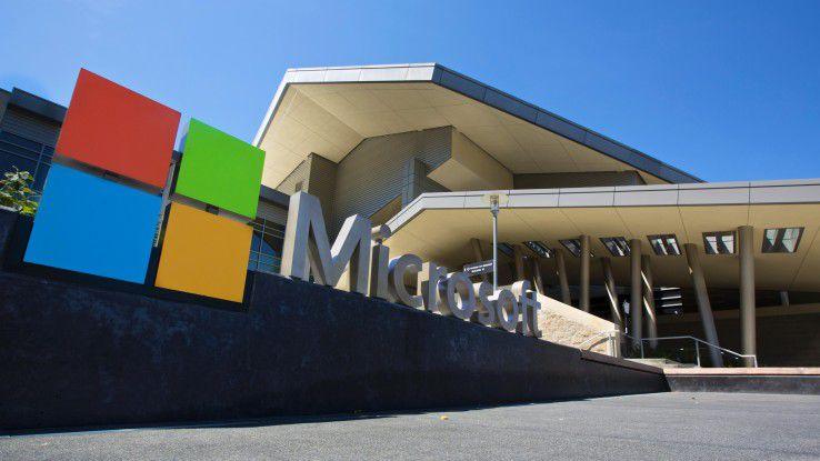 Besucherzentrum auf dem Microsoft-Campus in Redmond bei Seattle