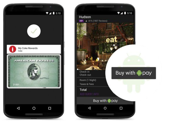 Mit Android Pay ist nun in den USA ein weiterer Mobile-Payment-Dienst gestartet.