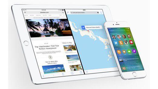 Apple iOS 9 bietet viele neue Funktionen wie Split View für zwei Apps auf dem Bildschirm.