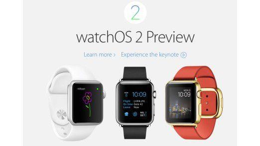 Die Apple Watch bekommt mit watchOS 2 das erste große Update mit vielen neuen Funktionen.