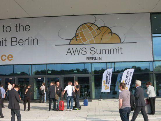 """Auf dem AWS Summit 2015 in Berlin präsentierte sich Amazon als """"großer"""" Cloud Anbieter."""