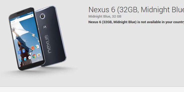 Noch wird das Nexus 6 hierzulande nicht im Google Play Store angeboten.