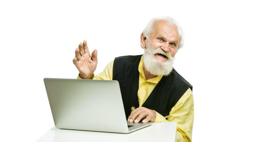 Der Onliner-Anteil der über 70-Jährigen liegt bei unter einem Drittel (29,7%)