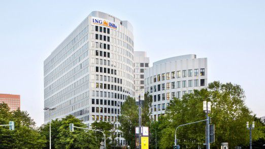 Das Hauptgebäude der ING-Diba in Frankfurt.