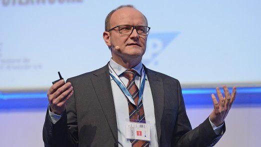 MLP CIO Klaus Strumberger auf den Hamburger IT-Strategietagen.