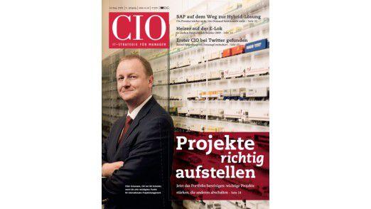 Ganz vorn: Peter Schumann auf dem Titel des CIO-Magazins.