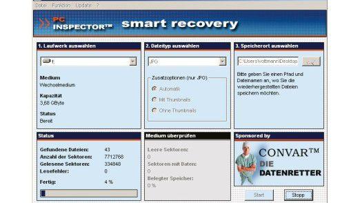 Gelöschte Bilder lassen sich mit einer Software wie PC Inspector Smart Recovery sehr einfach wiederherstellen. Das gelingt sogar, wenn die Karte formatiert wurde.