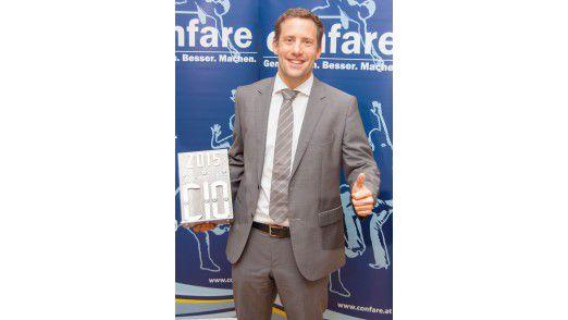 Martin Fluch, IT Services Director der A1 Telekom Austria gewinnt den CIO Award in der Kategorie Großunternehmen.